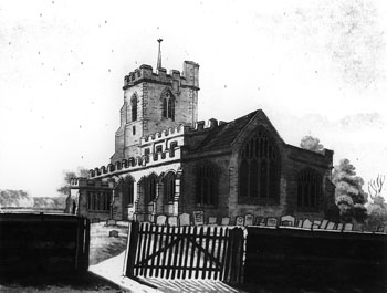 Cople church from the east 1876