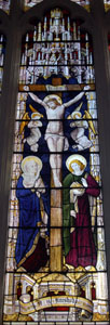 Crucifixion on east window February 2008