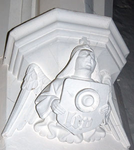 angel capital on south west pier of chancel February 2008