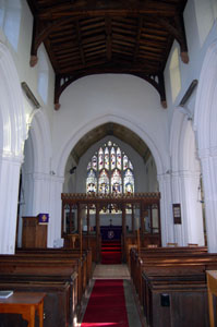 church interior looking east February 2008