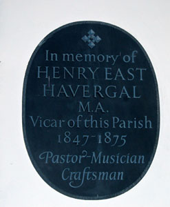 plaque to Henry East Havergal February 2008