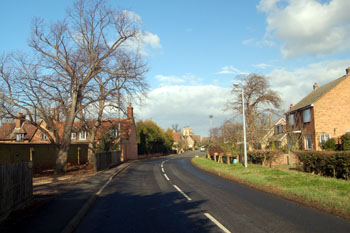 view north along Northill Road February 2008