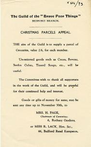 Guild of Brave Poor Things Christmas Parcels Appeal [X414/93]