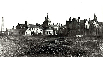 Three Counties Asylum eastern end seen from the north in 1872 [Z50-2-16]