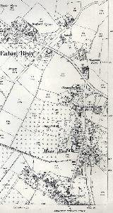 1901 Moor End and the south-eastern part of the village