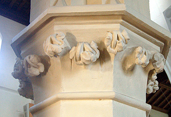Capital of a column in the south arcade March 2012