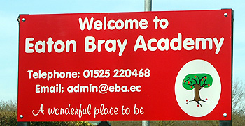 Eaton Bray Academy sign March 2012
