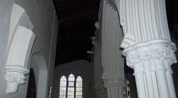 North aisle - the two unfinished sections of arch are plainly at different angles March 2012