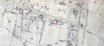 The northern part of the village in 1880
