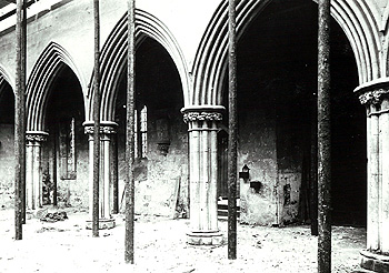 The restoration of the nave and north aisle about 1890 [Z50/39/10]