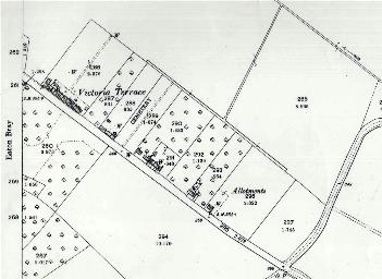The south-eastern part of Bower Lane in 1901