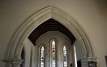 The chancel arch July 2013