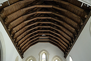 The chancel roof July 2013