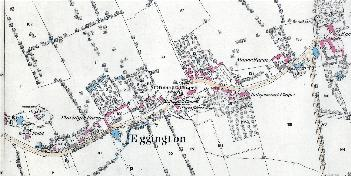 The eastern part of Eggington in 1882