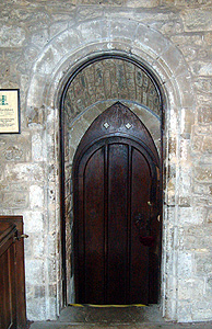 Doorway to the vestry from the south aisle February 2012