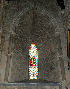 North aisle west window February 2012