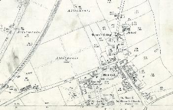 The northern part of the village in 1901