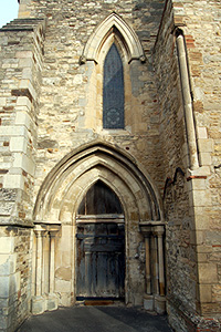 The west door into the north aisle February 2012