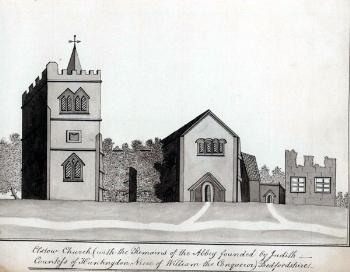 Z1045-1 Elstow Abbey about 1810 (reduced)