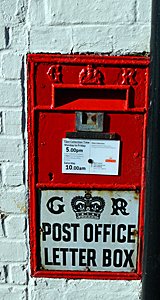 Postbox in the wall of the Old Post Office February 2016