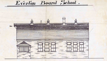 North elevation of the school in 1895 [CDE24]