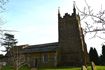 The church from the north-west February 2013