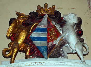 Crest on the tomb of Lady Elizabeth Talbot August 2011