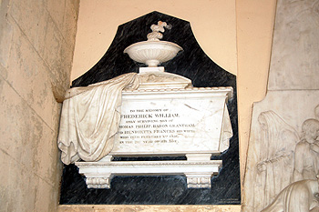 Memorial to Frederick William son of Thomas Philip Baron Grantham August 2011