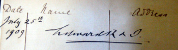 Signature of Edward VII taken from the visitors book [P12/28/10]