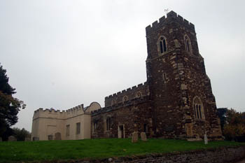 The church from the north-west October 2010