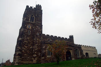 The church from the south October 2010