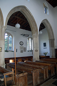 View from the nave into the north aisle August 2011