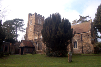 Flitwick church from the south-east January 2010