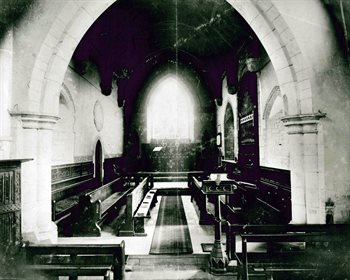 The chancel looking east about 1870 [Z50/50/38]