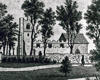 The church from the south about 1765 [LL18/26]