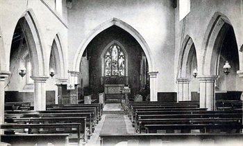 The interior of the church looking east about 1900 [Z1130/50/51]