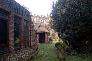 The vestry and south porch January 2010