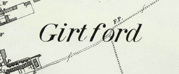 The name on a map of 1901