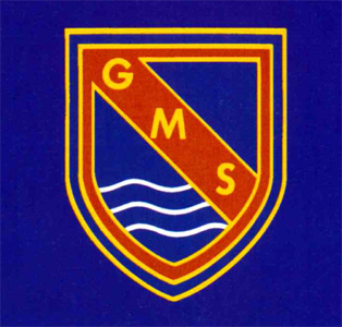 Goldington Middle School crest about 1995 [E-Pu4-4-48]