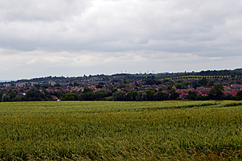 The view over Bedford from Goldington Highfields - now in Ravensden parish June 2017