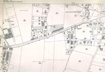 The western part of Goldington in 1926