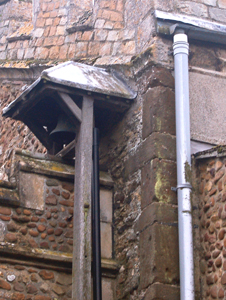 The long and short work (left of the drainpipe) at the east end of the nave March 2010
