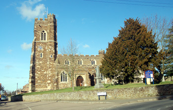 Flitton church from the south February 2011