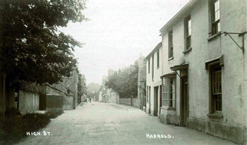 Greystone House and High Street about 1920