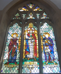 Harrold church east window May 2008