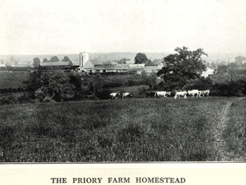 Priory Farm homestead in 1925