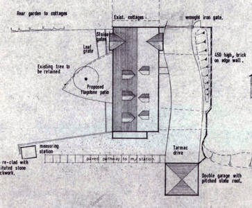 Sketch plan of mill after proposed alterations in 1976