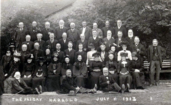 Old people at tea at Priory Gardens 1913