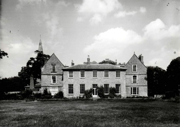 Harrold Hall from the south - built on the site of the Priory