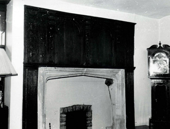 Mantelpiece in The Old Manor in 1966